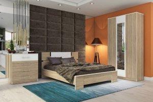 Спальня Оливия дуб сонома - Мебельная фабрика «Столлайн»