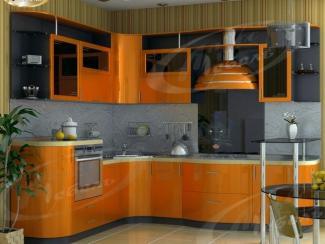 Кухня угловая «Оранжевый металлик» - Мебельная фабрика «Ладос-мебель»