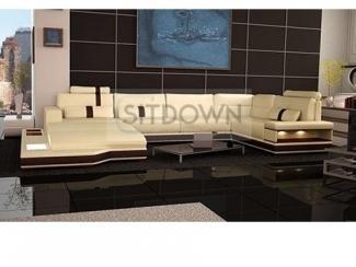 П-образный диван кожаный Джентал - Мебельная фабрика «Sitdown», г. Москва