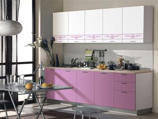 Кухонный гарнитур прямой Сирень
