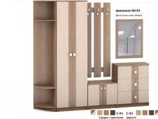 Прихожая БН-03 сдекором ясень темный - Мебельная фабрика «Милайн», г. Смоленск