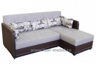 Серый диван с оттоманкой Скарлет  - Мебельная фабрика «Царь-мебель», г. Брянск