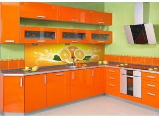 Яркая угловая кухня  - Мебельная фабрика «Три кита»