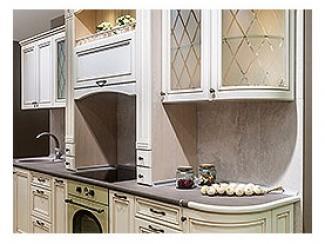 Кухонный гарнитур прямой Лилия 5 - Мебельная фабрика «Квартира 48 (Камеа)»
