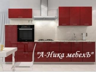 Кухня прямая Гамма Бордо - Мебельная фабрика «А-Ника», г. Ульяновск