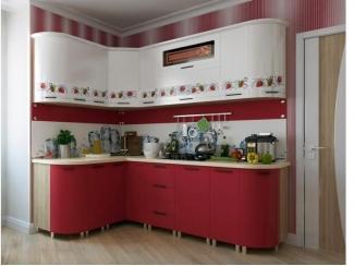 Кухня Новый стиль - Клубника - Мебельная фабрика «БелДревМебель»