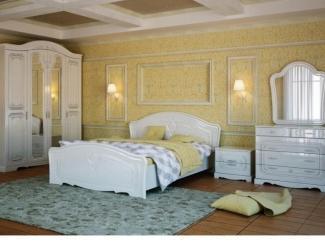 Спальный гарнитур Валенсия белая - Мебельная фабрика «Успех»