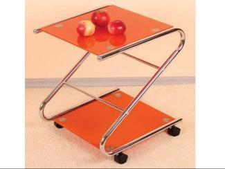 Стол стеклянный оранжевый