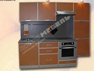 Кухонный гарнитур прямой Темно-оранжевый