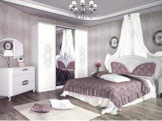 Белая спальня Бланж для девочки - Мебельная фабрика «Сильва»