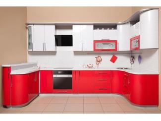 Яркая красно-белая кухня Рэдлайн