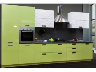 Прямая кухня Салатовый Глянец  - Мебельная фабрика «Астмебель»