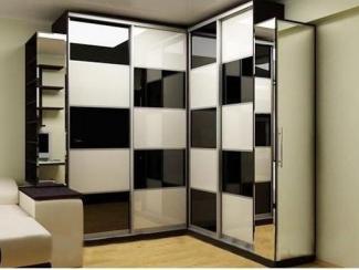Черно-белый угловой шкаф - Мебельная фабрика «Интерьер»