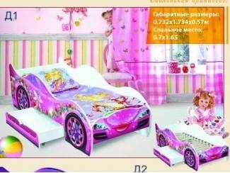 Детская кровать-машинка для девочек - Мебельная фабрика «Мир Мебели»
