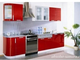 Прямая красная кухня  - Мебельная фабрика «Абсолют»