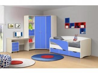 Мебель для детской в голубом цвете Алиса 2 - Мебельная фабрика «Виктория»
