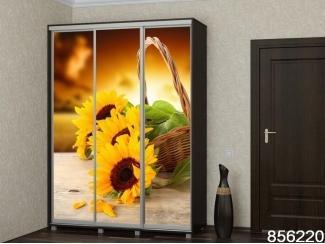 Шкаф-купе с фотопечатью  Цветы - Мебельная фабрика «Бител», г. Дзержинск