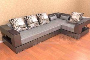 Модульный диван Алекс с выдвижной оттоманкой - Мебельная фабрика «Алтай-мебель»