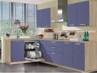Фиолетовая угловая кухня Вудколор - Мебельная фабрика «SL-Мебель»