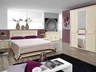 Спальный гарнитур Тунис слоновая кость с серебром - Мебельная фабрика «Пинскдрев»