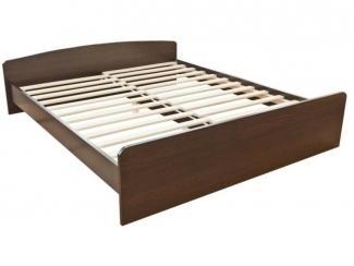 Простая двухспальная кровать - Мебельная фабрика «Красная звезда»