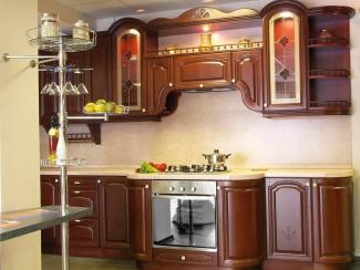 Кухонный гарнитур Бук цвет вишня - Мебельная фабрика «ARVA»
