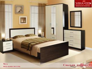 Спальня Мега вариант 1 - Мебельная фабрика «Элна»