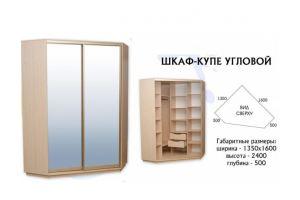Шкаф-купе угловой  - Мебельная фабрика «Евростиль»