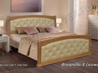 Кровать из дерева Флорида 1 - Мебельная фабрика «Альянс 21 век»