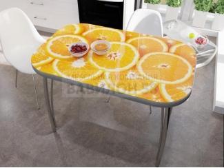 Стол со стеклом Апельсины - Мебельная фабрика «Вавилон58»