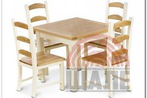Обеденная группа стол и стул ТОМАС - Мебельная фабрика «ВМК-Шале»