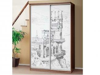 Шкаф с фотопечатью Ласточкино гнездо  - Мебельная фабрика «Аджио»