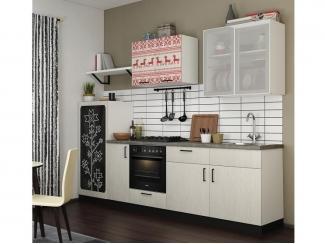 Белый кухонный гарнитур с фотопечатью Вест - Изготовление мебели на заказ «Кухни ЧУ»