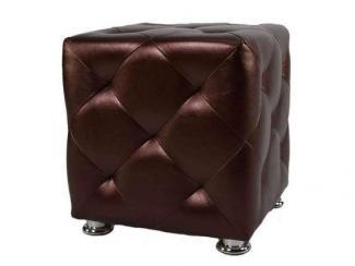 Пуф Коричневая экокожа - Импортёр мебели «МиК Мебель (Малайзия, Китай, Тайвань, Индонезия)»