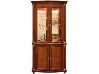 Шкаф с витриной Валенсия 2з П 244.15 (зеркало) - Мебельная фабрика «Пинскдрев»