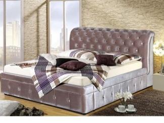 Мягкая кровать в каретной стяжке - Мебельная фабрика «Уют»