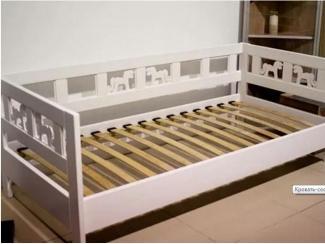 Кровать-софа с лошадками из массива сосны