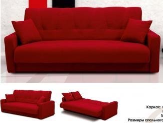 Красный диван Астра  - Мебельная фабрика «Луховицкая мебельная фабрика», г. Луховицы