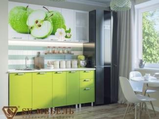 Кухня с фотопечатью Яблоки