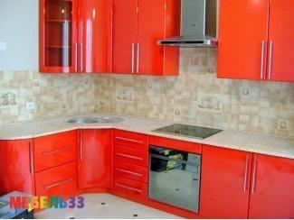 Красная угловая кухня  - Изготовление мебели на заказ «Мебель 33»