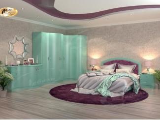 Дорогая спальня в зеленом цвете Каприз
