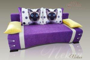 Диван Пекин с фотопечатью Кошки на подушках - Мебельная фабрика «Kiss», г. Ульяновск