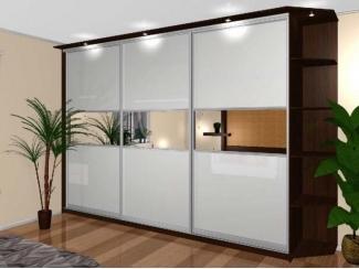 Вместительный шкаф-купе с зеркалами  - Мебельная фабрика «Тритон»