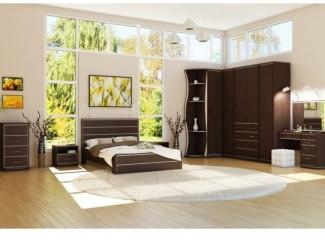 Спальный гарнитур Эстет темный - Мебельная фабрика «Антей»