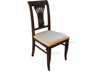 """Стул деревянный с мягким сиденьем  из массива дерева """"Лира"""" с узором"""