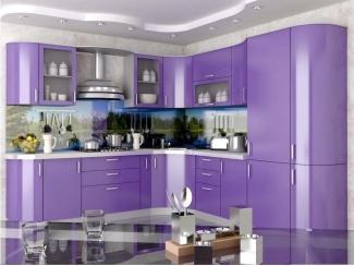 Угловая фиолетовая кухня - Мебельная фабрика «Вектра-мебель»
