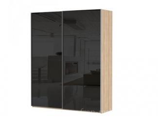 Шкаф-купе Элит (Миллениум) на 1600 дуб бардолино/черное стекло - Мебельная фабрика «Фран»