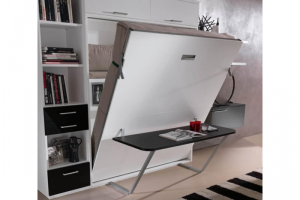 Подъемная кровать-шкаф со столом Изабелла - Мебельная фабрика «МеТра»