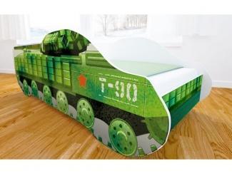 Кровать детская с матовой фотопечатью Танк