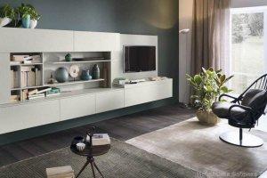 Навесная стильная гостиная Лакки - Мебельная фабрика «Триана»